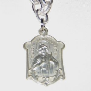 "St Jude Medal Vintage on 20"" Chain psi3218"